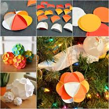 Paper Ball Christmas Decorations