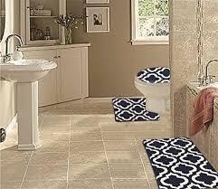 wpm 3 piece multi color bath mat set bathroom mat contour multi colored striped bath mat