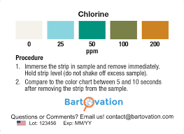 Extra Vivid Chlorine Restaurant Sanitizer Test Strip Vial Of 100 Bartovation Test Papers
