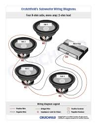 subwoofer wiring diagrams 4 svc 8 ohm mono