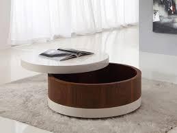 round storage coffee table