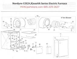 eebha nordyne electric furnace parts hvacpartstore click here to view a parts listing for the e2eb015ha which includes partial wiring diagrams that we currently have available