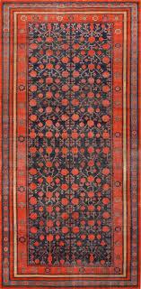 Antique Pomegranate Design Yarkand Khotan Rug 49173