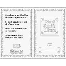 Album Word Word Family Album Downloadable Journal