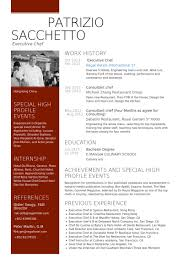 Executive Chef Resume Template Executive Chef Resume Samples Visualcv Resume  Samples Database Ideas