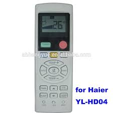 haier remote control. general yl-hd04 haier air conditioner remote control 6 button