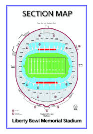 Liberty Football Seating Chart Seatings Memphis Liberty Bowl Memorial