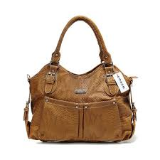 Coach Embossed Medium Brown Satchels DEU
