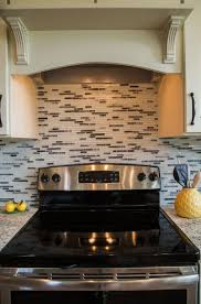Pictures Of Kitchen Countertops And Backsplashes Classy Linear Mosaic Full Backsplash RAnell Homes