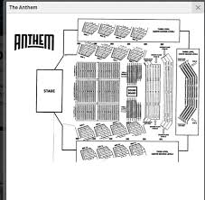 The Anthem Seating Chart Dc Jazzfest New Orleans Party With Jon Batiste On Saturday