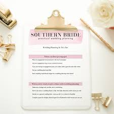 Wedding Planning To Do List Southern Bride