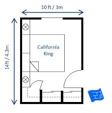 Marvelous A Bedroom Size Of 10 X 14ft Would Fit A California King Bed.