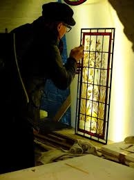 laudable stained glass door panel repair of victorian door panel piotr frac stained glass