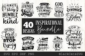 You can copy, modify, distribute and perform the work, even for commercial purposes, all without asking permission. Inspirational Bundle Svg Bundle 40 Designs Motivational 349732 Svgs Design Bundles In 2020 Design Bundles Svg Design Motivation