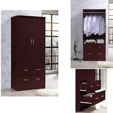 tall armoire wardrobe closet storage clothes cabinet furniture bedroom organizer