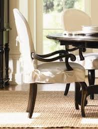 lexington furniture long cove summerville arm chair w white slipcover black finish dining room chair slipcovers