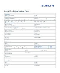 Credit Application For Rental Credit Application Forms Rental Check Form Property Appinstructor Co