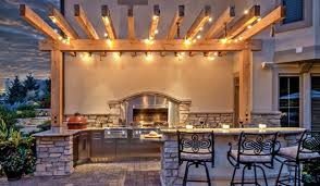 outdoor pergola lighting ideas. Pergola Lighting Ideas Danver Stainless Outdoor Kitchens Simple And Elegant With Wooden Lights Bar Kitchen D