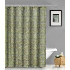 green pattern shower curtains with extra long shower
