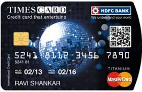 hdfc bank anium times credit card image