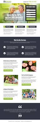 life insurance landing page designs to capture leads