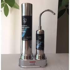 Máy Lọc Nước Lõi Sứ Water Purifier Máy Lọc Nước Dạng Đứng Tại Vòi Lọc Than  Hoạt Tính Không Dùng Điện Không Nước Thải HQ1