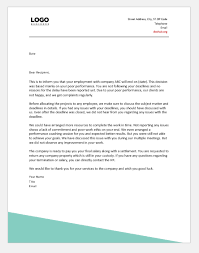 Termination Letter Due To Poor Performance Attendance