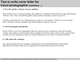 4 tips to write cover letter for travel photographer photography assistant cover letter
