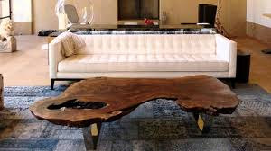 Living Room Table Designs Magnificent Wood Slab Coffee Table Ideas Youtube
