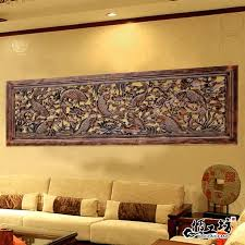 wood carving decorative wall hanging on the decorations living room entrance creative home plaque nine fish all decorative wood plaques wooden wall