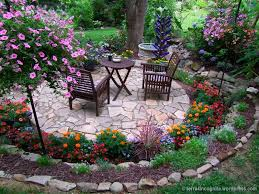 Small Picture The Long Border Circular patio Patios and Flower