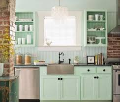 Fresh Mint Green Color Kitchen