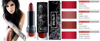 kat von d for sephora limited edition lipstick colors gothic lipstick and makeup
