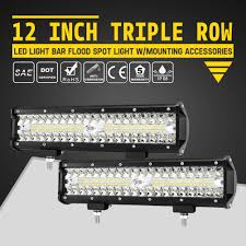 Crossover Led Lighting Details About 2pcs 12 Inch Triple Row Led Work Light Bar Spot Flood Beam Offroad Driving Lamp