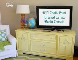 diy chalk paint dresser turned a console at thehappyhousie