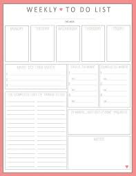 To Do List Calendar Printable Weekly Calendar To Do List Template