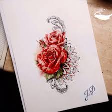 Russia Jdsketchbook эскиз тату татуировка розы и идеи для