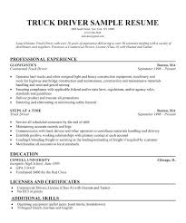 Sample Resume For Truck Driver New Resume For Truck Driver Resume Templates For Truck Drivers Best Of
