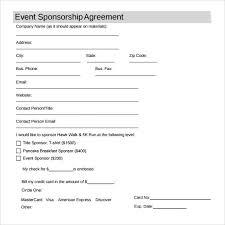 sponsorship agreement sponsorship agreement template sample sponsorship agreement 12