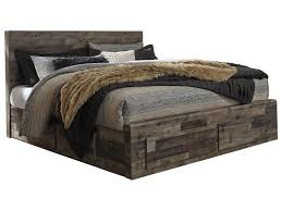 Beds with drawers Small Benchcraft Dereksonking Storage Bed With Drawers Pilgrim Furniture Benchcraft Derekson Rustic Modern King Storage Bed With Drawers