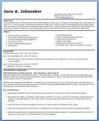 Pharmacy Resume Examples 83 Images Curriculum Vitae Pharmacist