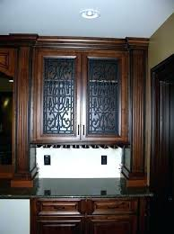 glass panels for kitchen cabinets cabinet doors panel stylish door install adding to diy frosted