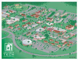 wayfinding city park and college campus map illustration  design