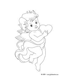 Coloriages Coloriage Gratuit De Cupidon Et Son Coeur Fr