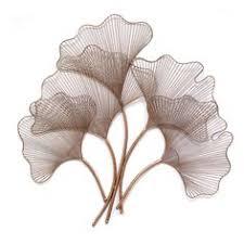 ginkgo leaf metal wall art