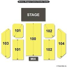 Seneca Allegany Casino Events Center Seating Chart Seneca Casino Concerts