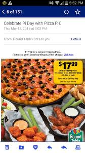 photo of round table pizza gridley ca united states pi day special