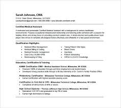 Free Medical Assistant Resume Template Gorgeous Certified Medical Assistant Resume Registered Medical Assistant