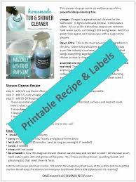 cleaning glass shower doors with vinegar homemade shower cleaner printable clean shower doors with vinegar and dawn