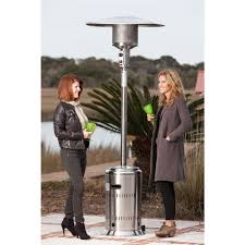 output stainless patio heater: fire sense  btu stainless steel propane gas commercial patio heater  the home depot